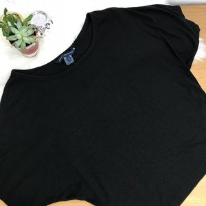 French Connection Black Crop Top